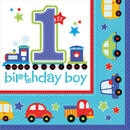Amscan Servetele1st Birthday Boy 16 Buc